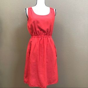 LoFt red sleeveless dress Sz 6P